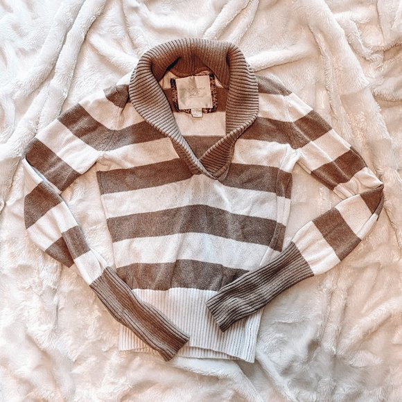 AMERICAN EAGLE Stripped Sweater